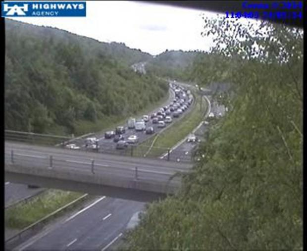 Crash causes one lane closure on M25 at Orpington