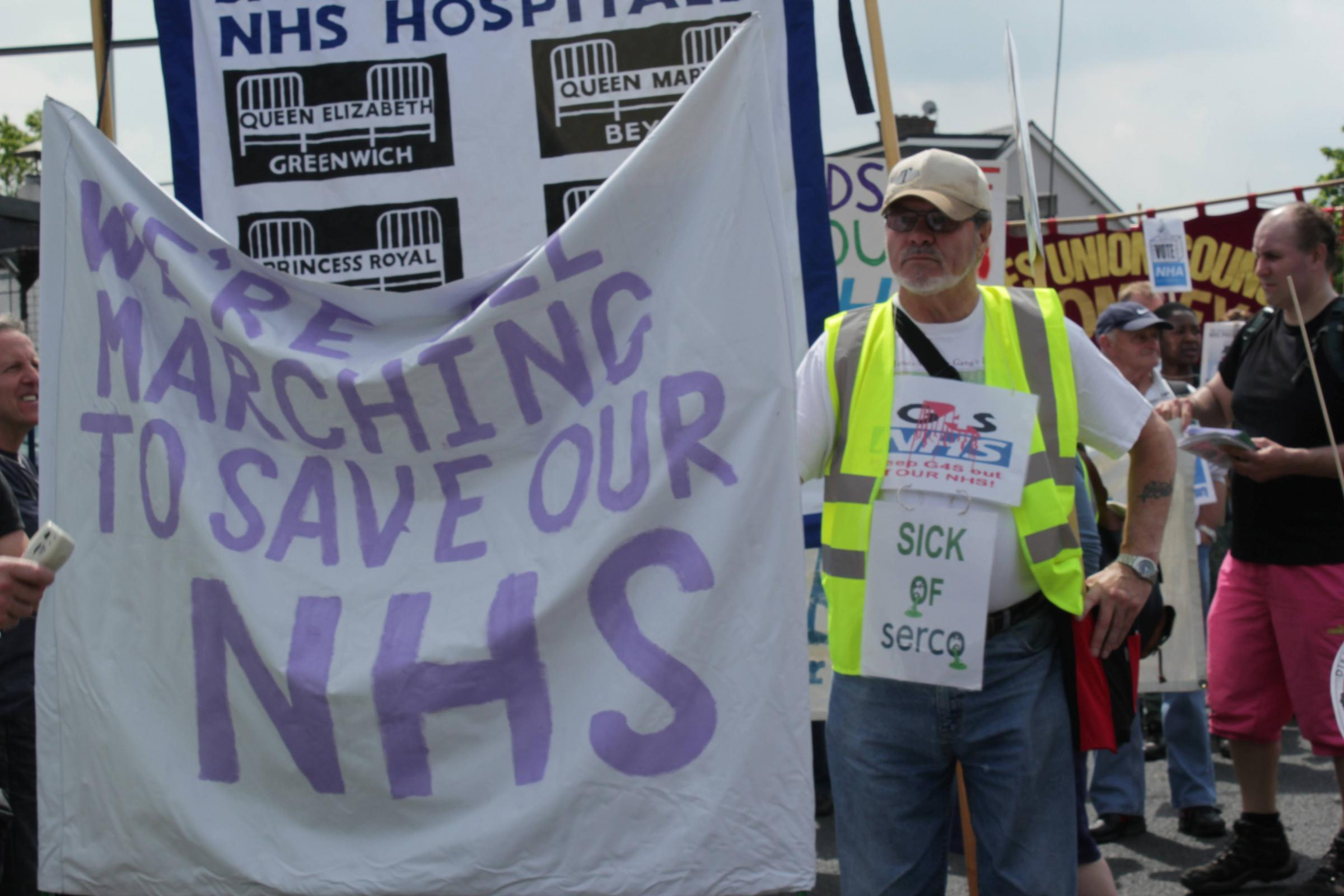 Anti-privatisation protest in Bexley