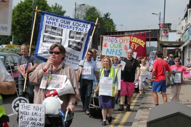 News Shopper: Anti-privatisation rally in Bexley