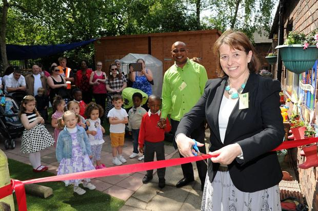News Shopper: MP for Erith and Thamesmead Teresa Pearce cut the ribbon
