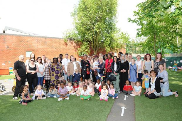 News Shopper: Thamesmead nursery unveils mud kitchen in outdoor play area