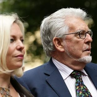 Rolf Harris arrives at Southwark Corwn Court with daugher Bindi