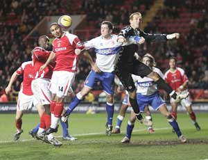 Jerome Thomas in action against Middlesbrough