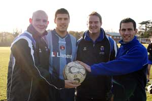 David Eckersall (left), Grant Basey, Oliver Hobbs and Gavin Williams