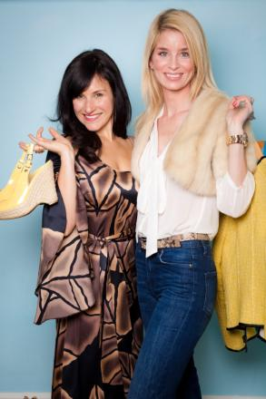 Bluewater's stylists Clare (left) and Bianca of Miss Dress