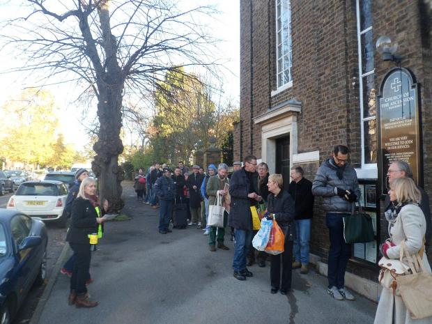 News Shopper: The queue outside last year's Blackheath and Greenwich Amnesty International book sale