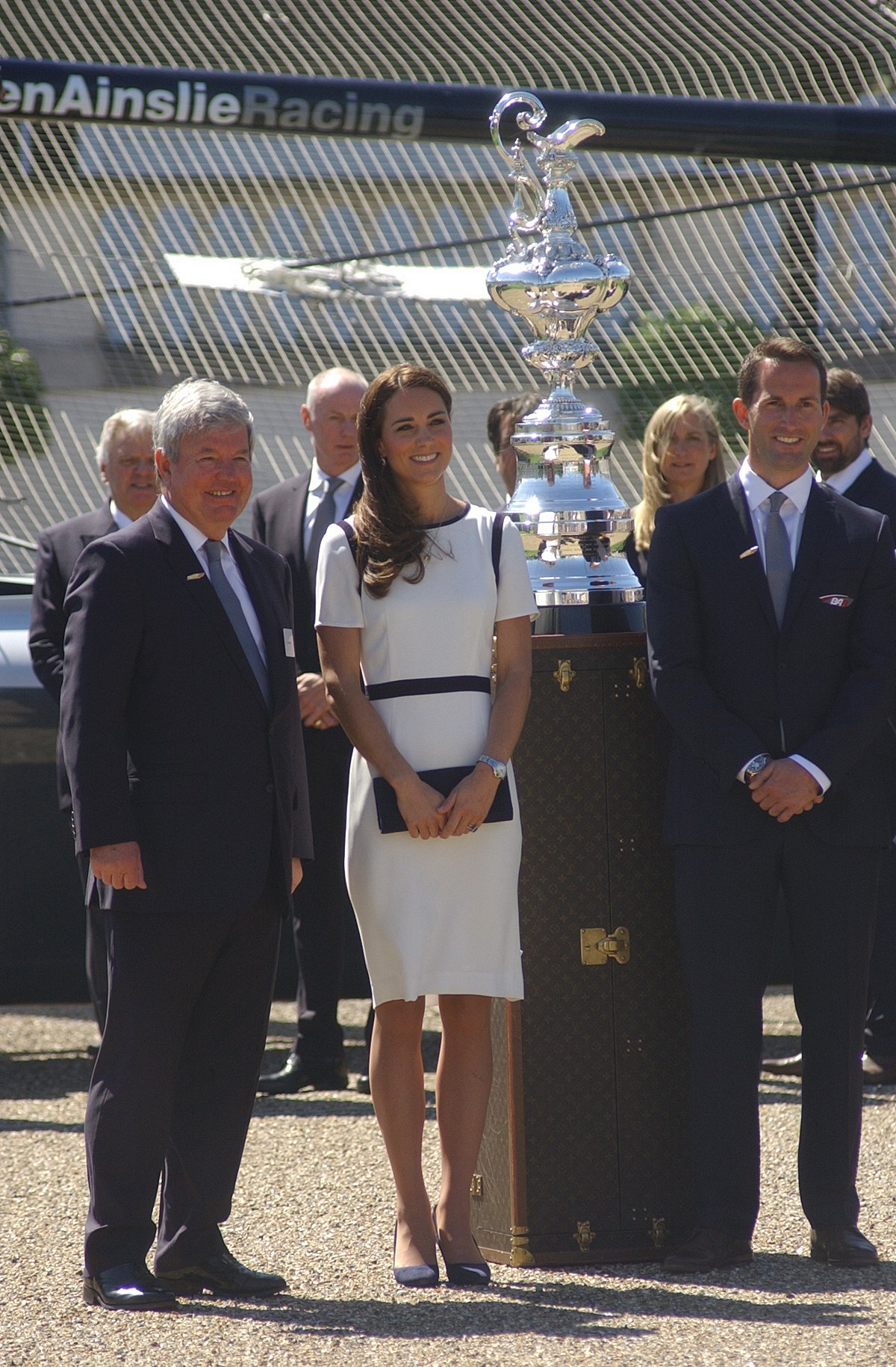 PICTURED: Duchess of Cambridge looks glam in Greenwich for Britain's America's Cup bid