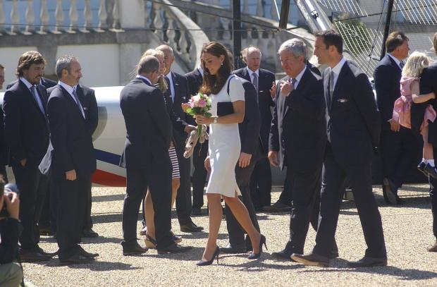 News Shopper: PICTURED: Duchess of Cambridge in Greenwich for Britain's America's Cup glory bid