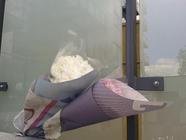 News Shopper: Flowers left at the scene today