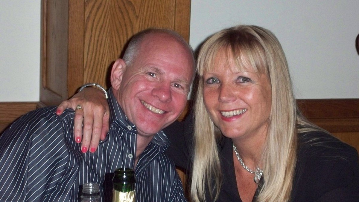 Tony Halliday with partner Joy McAllister