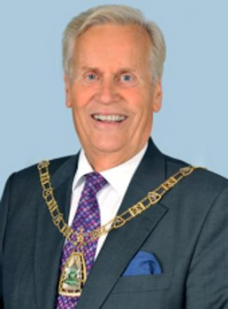 Councillor Julian Benington in the new Mayor of Bromley