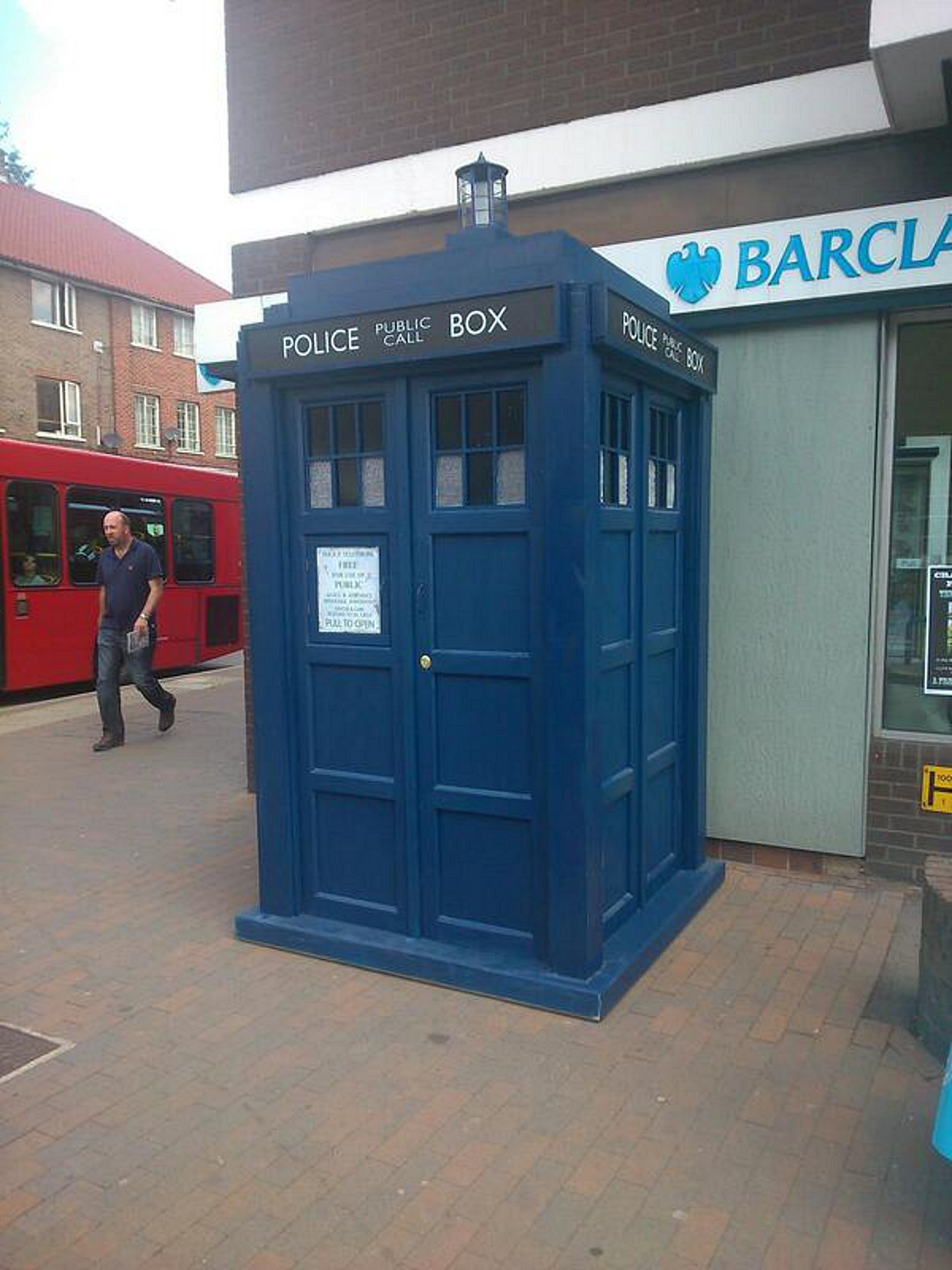 The TARDIS, short for Time and Relative Dimension in Space, is in Orpington. Photo: @VickyaLove