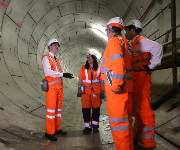 News Shopper: George Osborne unveils Crossrail Thames tunnel between Plumstead and North Woolwich