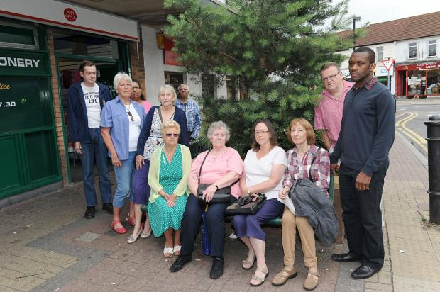 Isaac Kwaye (far right) with other members of the Northumberland Heath Community Forum.