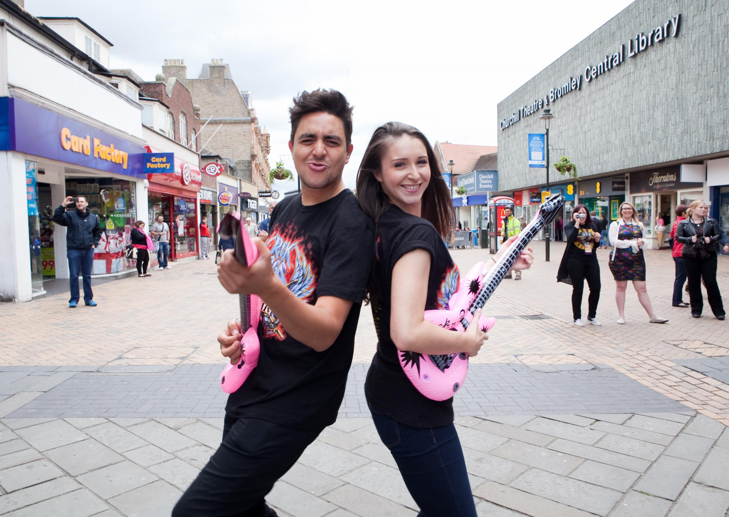 VIDEO UPDATE: Rock of Ages stars perform flash mob in Bromley High Street