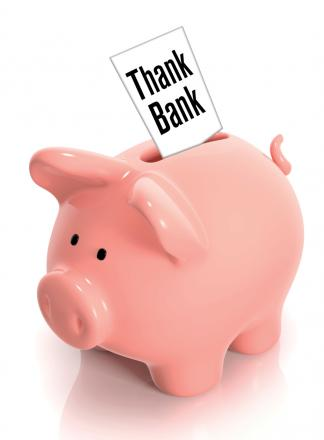 Send your messages of gratitude for good deeds done and random acts of kindness to the Thank Bank