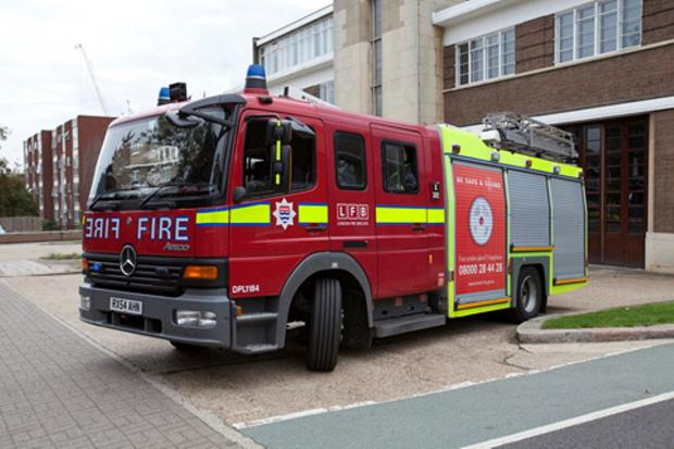 Six fire engines and 30 fire fighters were called to a Bromley house fire on Saturday morning