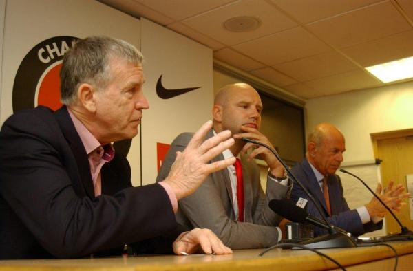 Roland Duchatelet (left) has asked Bob Peeters to first and foremost make sure Charlton stay up this year