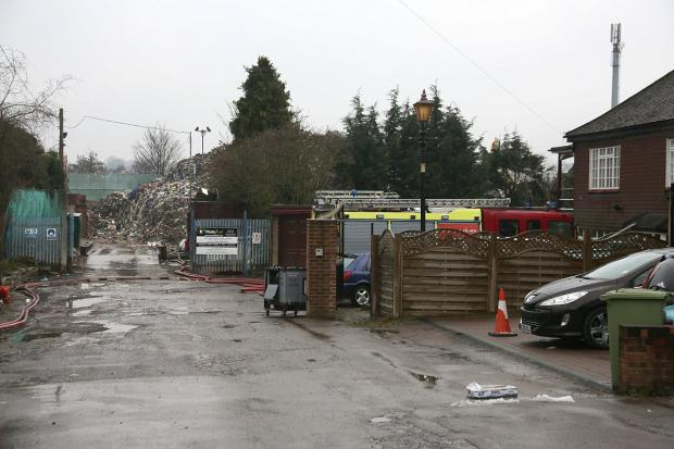 The Waste4Fuel recycling plant in Cornwall Drive, St Paul's Cray