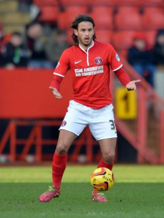 Midfielder Diego Poyet in action for Charlton v Birmingham City. Picture by Keith Gillard.