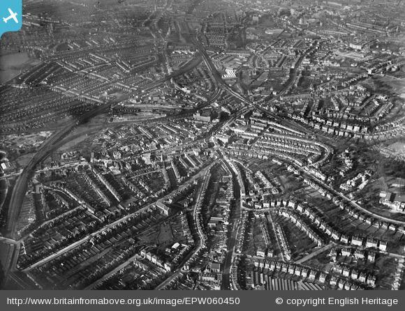 The High Street and surrounding residential area, Lewisham, 1939