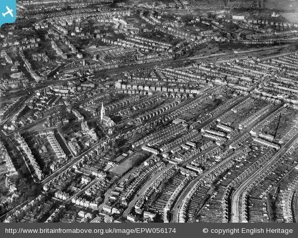 News Shopper: Christ Church and the surrounding residential area, Forest Hill, 1937