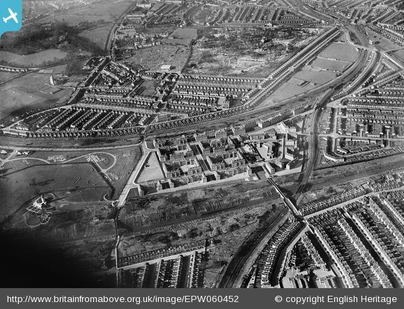 News Shopper: Nunhead Cemetery and flats surrounding Kentwell Close, Brockley, 1939