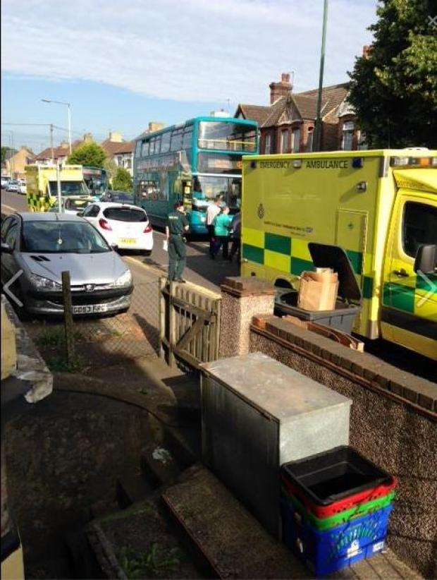 News Shopper: Angry son says bus driver hurled abuse at injured dad and ambulance crews