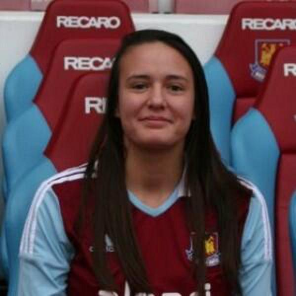 Katie during her time at West Ham.