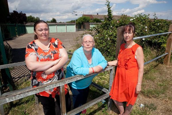 Left to right: Mel Hudson at the proposed site with Slade Green Big Local partnership member Lyn Woodgate, 63, and vice chair Eve Helselden, 61.