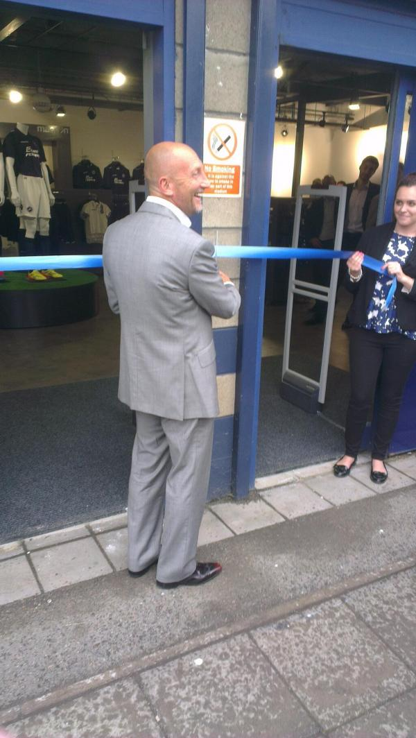 Ian Holloway officially re-opens the club shop at The Den this lunchtime