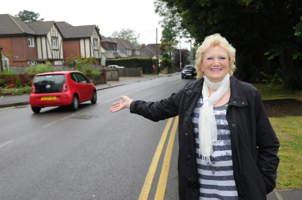 Barbara Howe, 67, says there are now plans to build a pedestrian crossing across Main Road, Biggin Hill