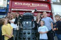 Doctor Who fans meet a Dalek outside Kirkdale Bookshop	LC1265-02