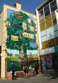 News Shopper: The Darwin-themed mural in Market Square, Bromley