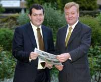 Councillor Chris Maines with Liberal Democrat leader Charles Kennedy