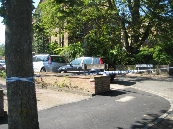 News Shopper: Lancaster Close, Bromley, this morning