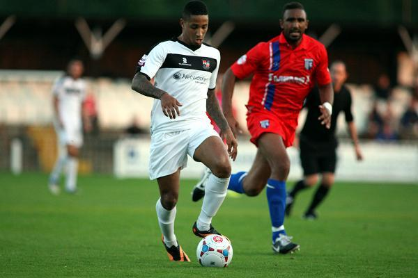 Pierre Joseph-Dubois (above) almost gave Bromley an early lead. Picture by Edmund Boyden.