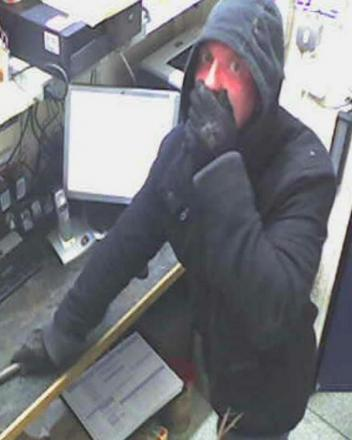 Police want to speak to this man after a burglary in McColl's newsagents, Hayes