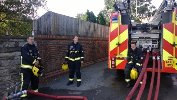 Fire fighters at the Waste4Fuel site in St Paul's Cray this morning