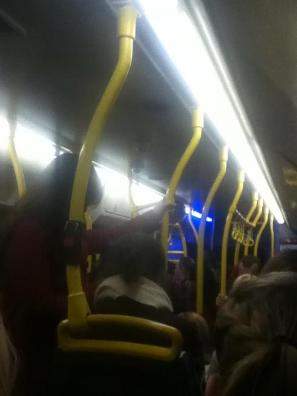 Inside the overcrowded 108 bus
