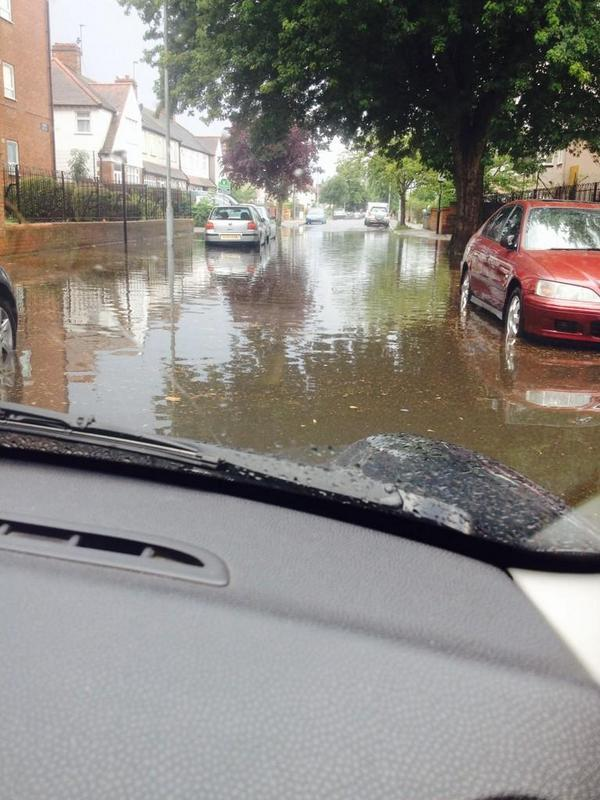PICTURES: Parts of Beckenham flooded after torrential downfall