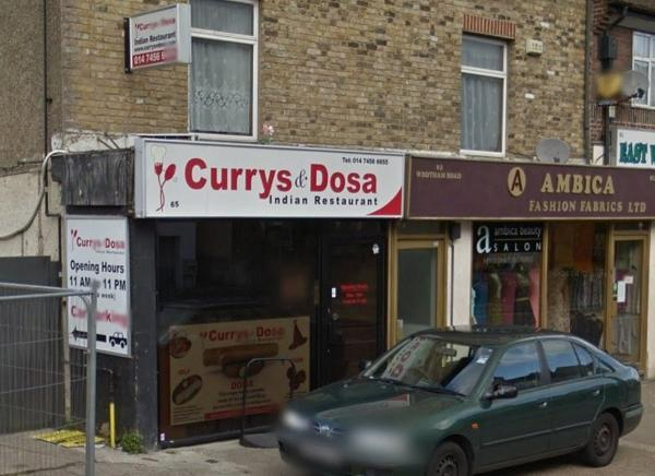 Currys and Dosa has now closed down (image by Google Maps).