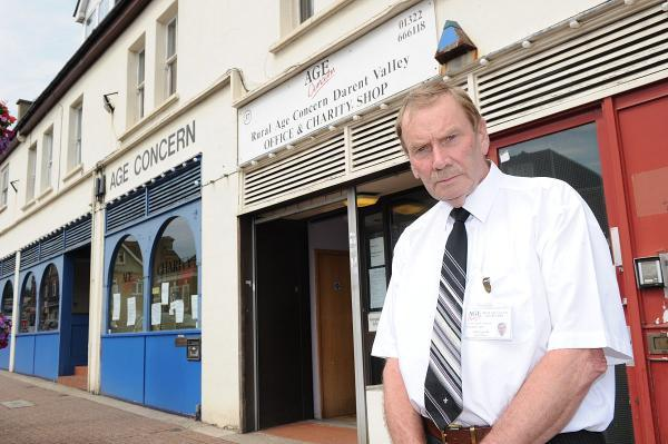 John Arnold outside the RACDV premises in the High Street.