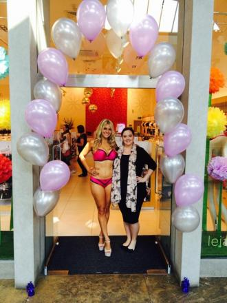 PICTURED: Bexleyheath Miss Universe finalist models lingerie live at Bluewater