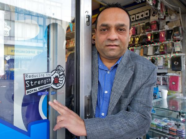 Woolwich shopkeepers crack down on crime with super-strength alcohol campaign