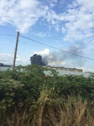 Shed fire causes smoke chaos over Erith