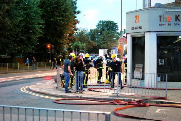 Fire crews at the scene (pic by Henley Holder)