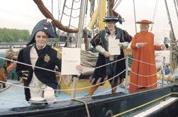 Pete Pope, Bill Ellson and Graham Carneck dressed as Lord Nelson, Henry VIII and Cardinal Wolsey	LE2232/A