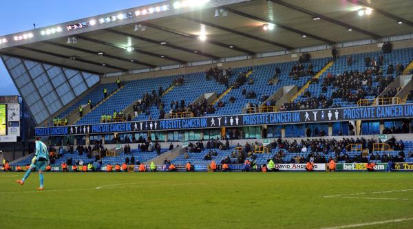 Swathes of empty blue seats aren't doing the Lions any favours. Picture by Keith Gillard.