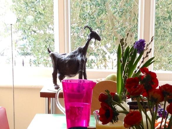 The goat sculpture was stolen from the Blackheath property on 19 July
